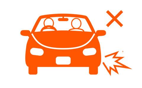 友人が運転する車に同乗して事故にあった
